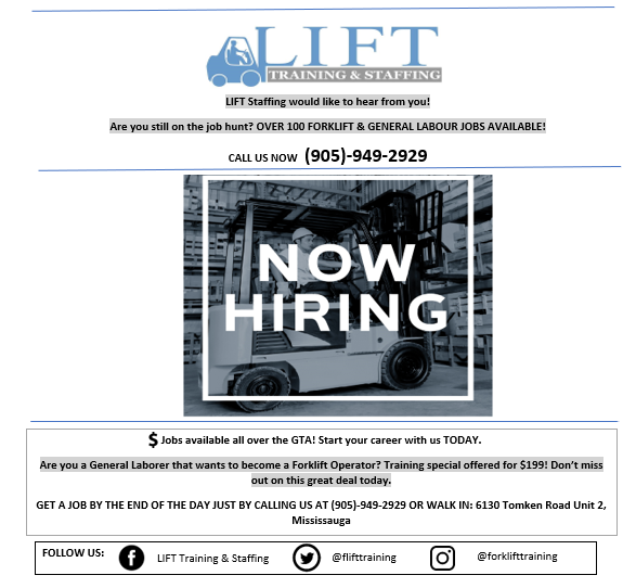 Forklift Staffing Agency Lift Temp Inc